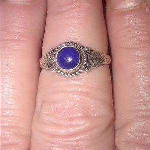 Jewelry - GENUINE LAPIS LAZULI RING IN 925 STERLING SILVER
